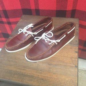 Euc Yuketen boat shoes handmade Sz 10.5